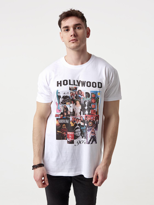 Чоловіча біла футболка Hollywood