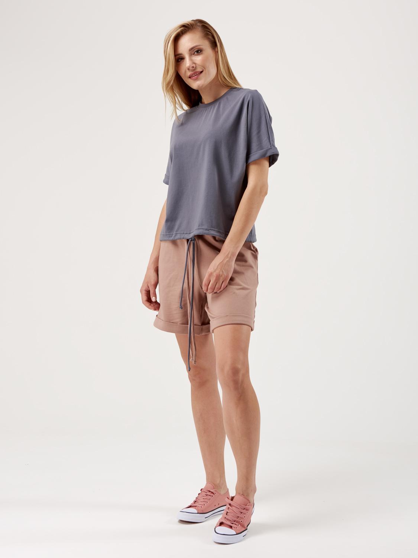Костюм жіночий KWS з шортами беж/графіт