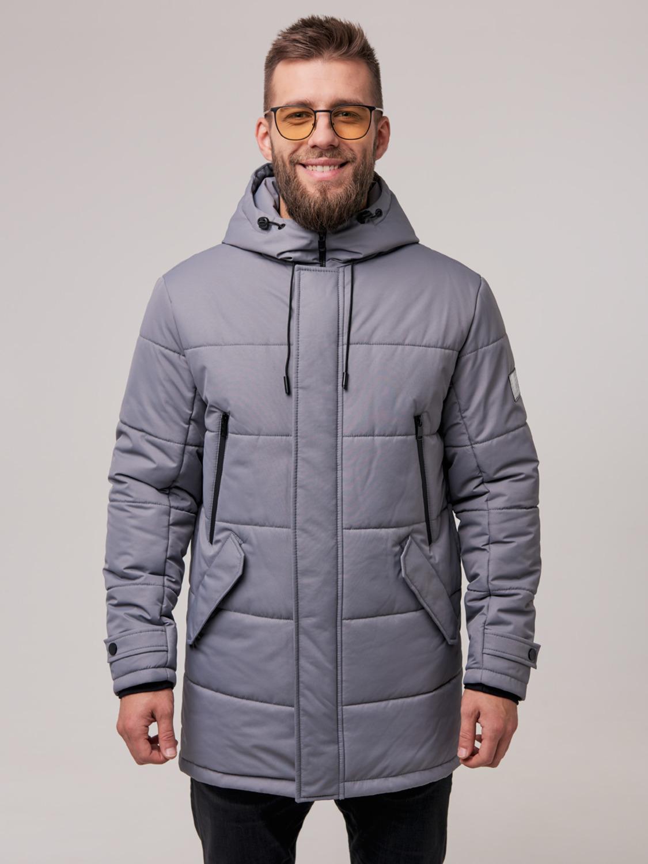 Чоловіча зимова куртка Б6 Сірий