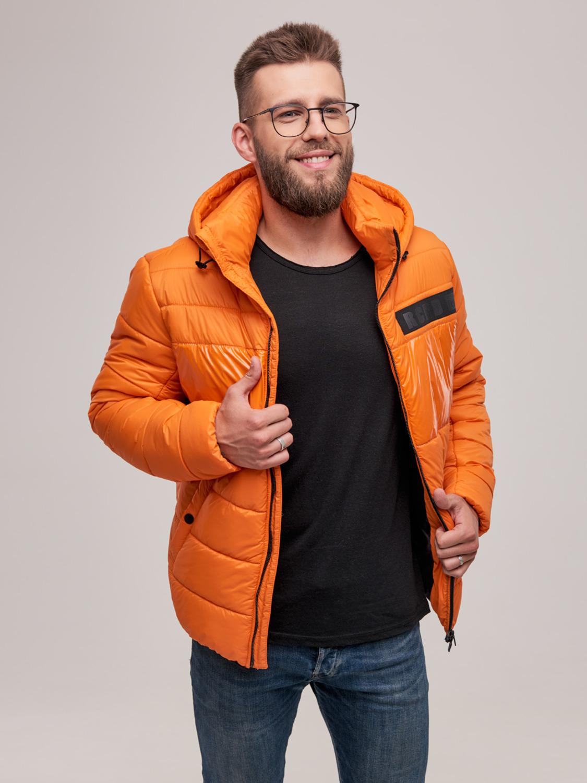 Куртка чоловіча зимова ZK-01 оранж