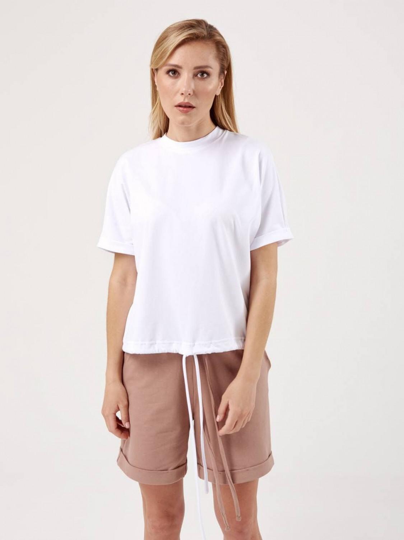 Костюм жіночий KWS з шортами бел/графіт